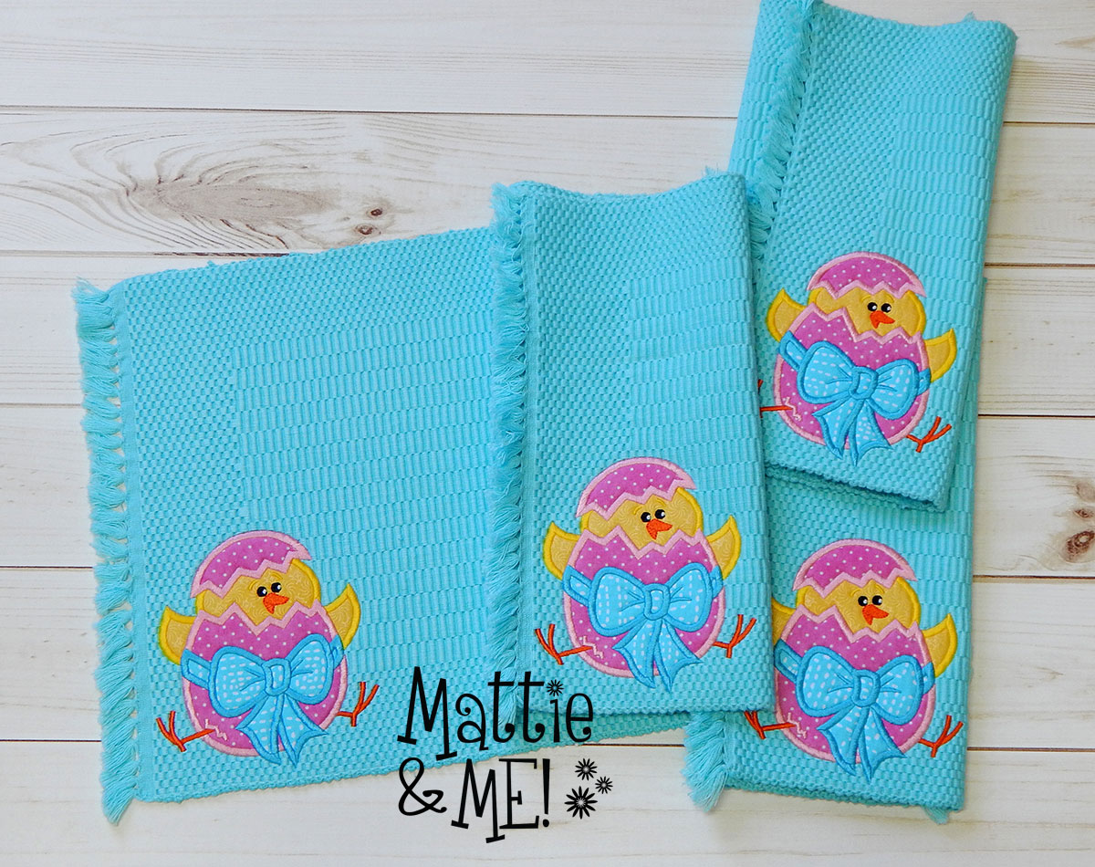 easter chick placemats set finished