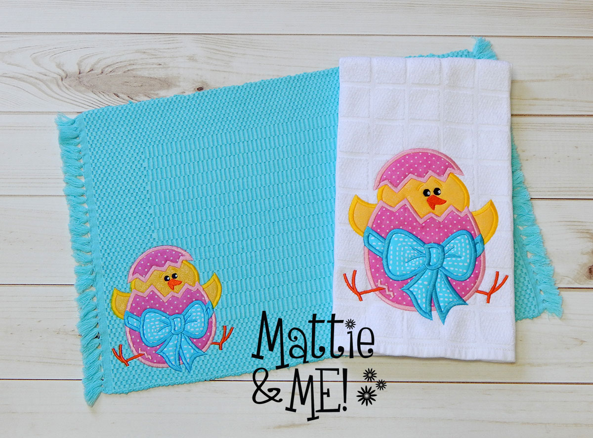 easter placemat and kitchen towel set finished