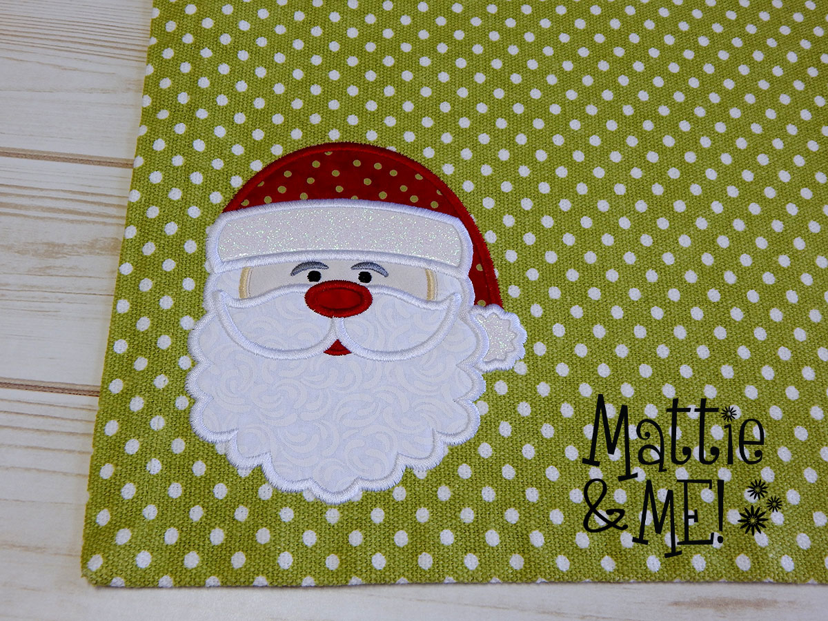 santa placemat close up finished