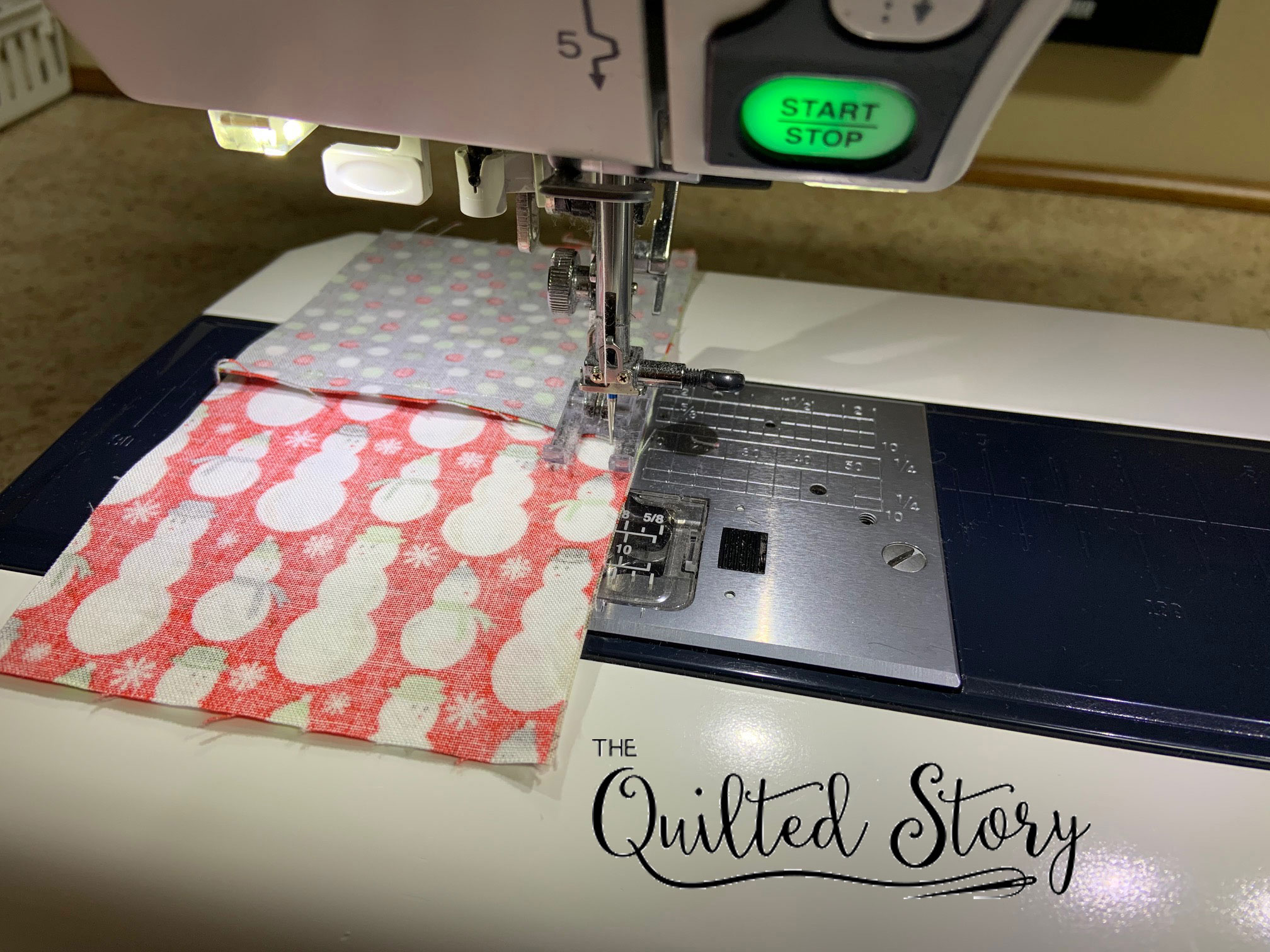 stitching a 4 patch