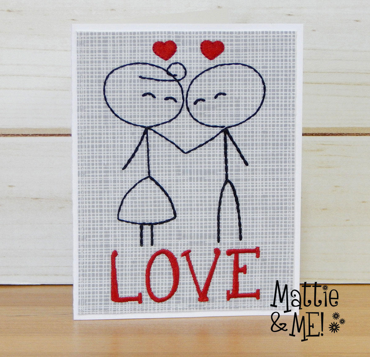 valentine card finished card