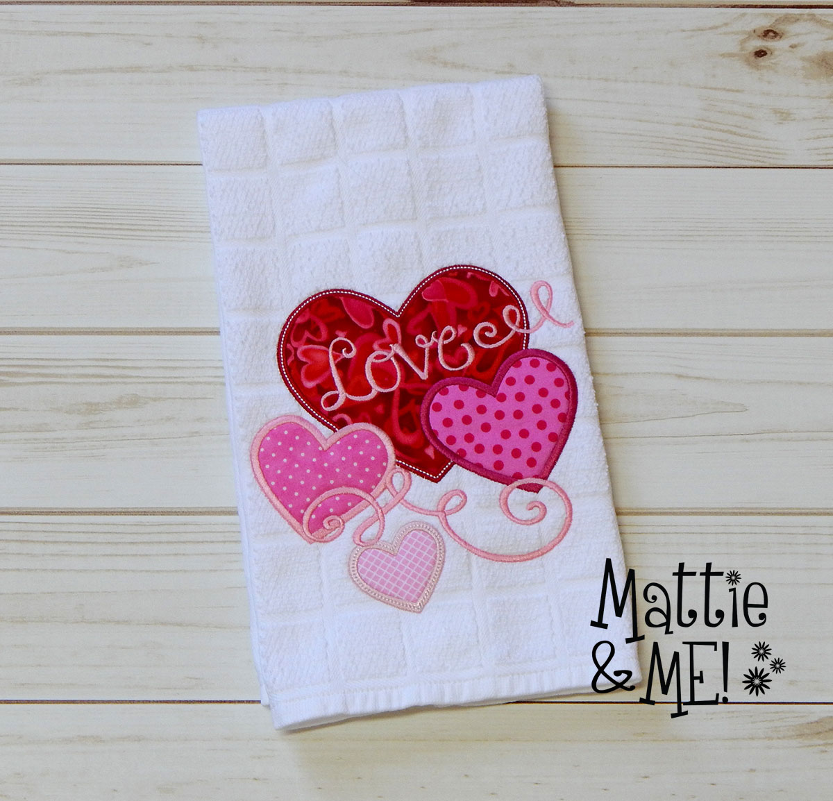 valentine kitchen towel finished 2