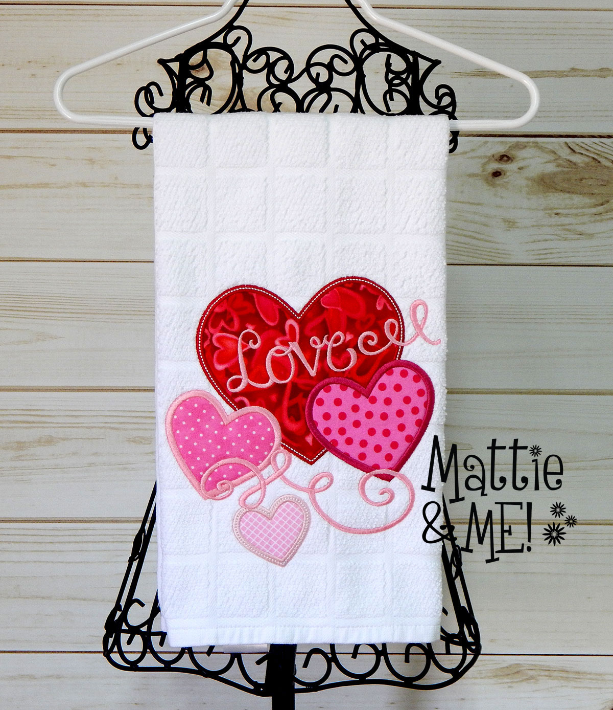 valentine kitchen towel finished