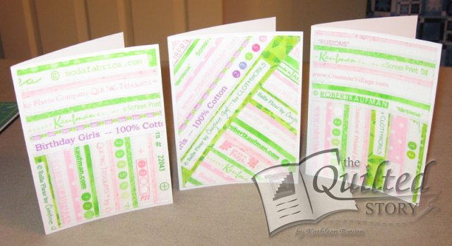 PINK AND LIME SELVAGE NOTE CARDS!