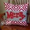 Merry Applique Pillow