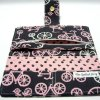 INTERIOR-PINK AND GRAY BICYCLE WALLET