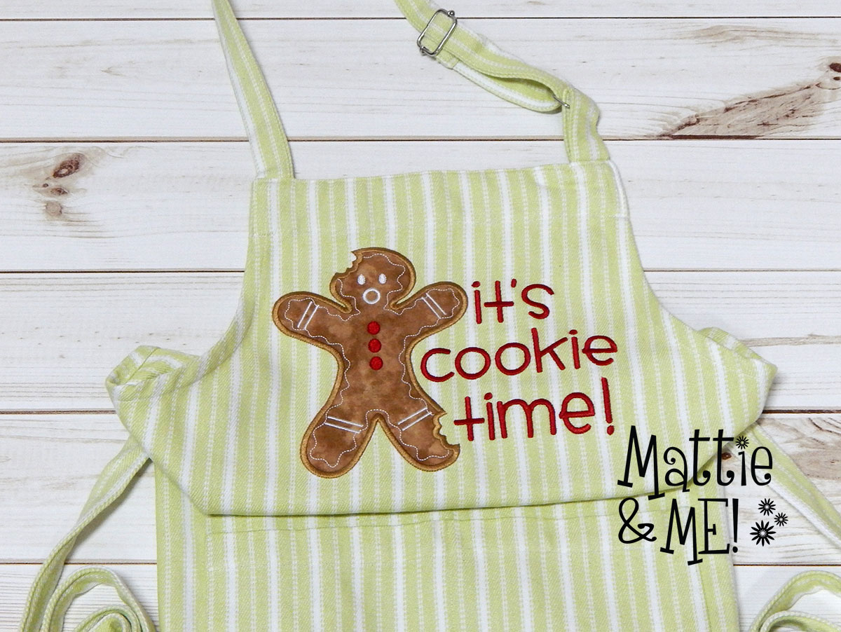 cookie time apron newest finished
