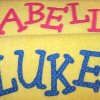 MORE SWIM TOWELS WITH NAME APPLIQUE-1!